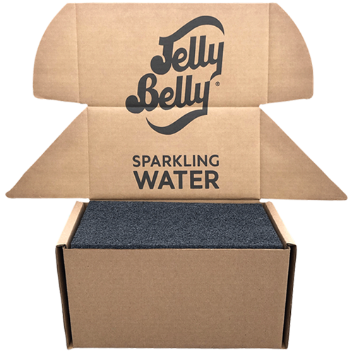Jelly Belly custom boxes for shipping Sparkling Water
