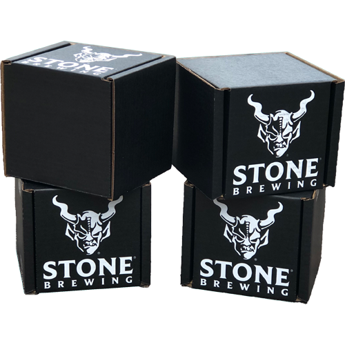 Stone Brewing custom boxes for shipping beer